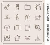 modern  simple vector icon set...   Shutterstock .eps vector #1097699864
