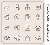 modern  simple vector icon set... | Shutterstock .eps vector #1097699981