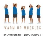 warm up muscles | Shutterstock .eps vector #1097700917