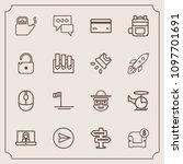 modern  simple vector icon set...   Shutterstock .eps vector #1097701691