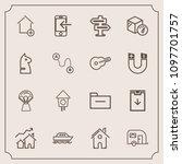 modern  simple vector icon set...   Shutterstock .eps vector #1097701757