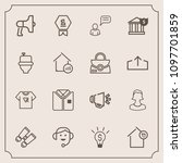 modern  simple vector icon set... | Shutterstock .eps vector #1097701859