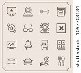 modern  simple vector icon set... | Shutterstock .eps vector #1097703134