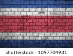 Costa Rica Flag Is Painted Ont...