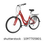 red bicycle isolated. 3d... | Shutterstock . vector #1097705801