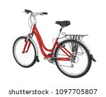 red bicycle isolated. 3d... | Shutterstock . vector #1097705807