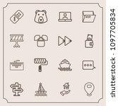 modern  simple vector icon set...   Shutterstock .eps vector #1097705834