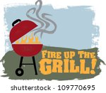 fire up the backyard bbq grill | Shutterstock .eps vector #109770695