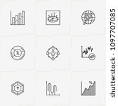 data analitic line icon set... | Shutterstock .eps vector #1097707085