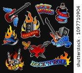 Vector Set Of Rock Tattoos....