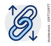 url link chain  | Shutterstock .eps vector #1097715977