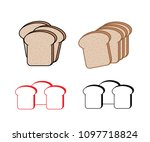 bread slices vector collection... | Shutterstock .eps vector #1097718824