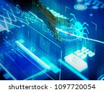 new technology information on a ... | Shutterstock . vector #1097720054