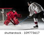 ice hockey action shot with... | Shutterstock . vector #109773617