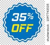 discount sticker vector icon in ... | Shutterstock .eps vector #1097743535