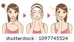 acne treatment before after ... | Shutterstock .eps vector #1097745524