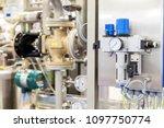 compressed air filter regulator ... | Shutterstock . vector #1097750774