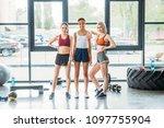 young attractive multiethnic... | Shutterstock . vector #1097755904
