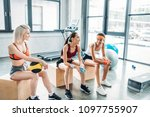 young attractive multicultural... | Shutterstock . vector #1097755907