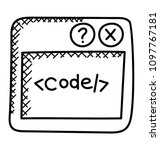 html source code of a web page  | Shutterstock .eps vector #1097767181