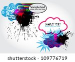 vector stain banners | Shutterstock .eps vector #109776719
