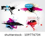vector stain banners | Shutterstock .eps vector #109776734