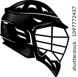 lacrosse helm calligraphic...   Shutterstock .eps vector #1097772437