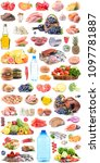 food for every day | Shutterstock . vector #1097781887