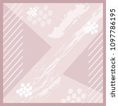 modern art pattern silk scarf...   Shutterstock .eps vector #1097786195