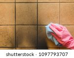 employee hand in rubber... | Shutterstock . vector #1097793707