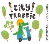 vector illustration  crocodile...   Shutterstock .eps vector #1097793887