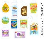 detergent package vector... | Shutterstock .eps vector #1097801177
