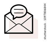 mail inbox letter  | Shutterstock .eps vector #1097806844