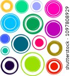 big set of colorful very bright ... | Shutterstock .eps vector #1097808929