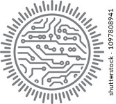 sun round design in pcb layout... | Shutterstock .eps vector #1097808941