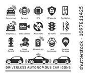 intelligent driverless vehicle... | Shutterstock .eps vector #1097811425