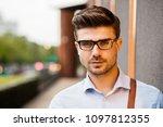 portrait of young entrepreneur. ... | Shutterstock . vector #1097812355
