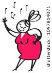 cartoon opera singer  woman...   Shutterstock .eps vector #1097814071