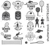 set of tennis club badges with... | Shutterstock .eps vector #1097816354