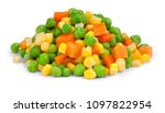 fresh mixed vegetables  on... | Shutterstock . vector #1097822954