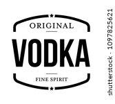 original vodka vintage stamp | Shutterstock .eps vector #1097825621
