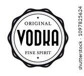 original vodka vintage stamp | Shutterstock .eps vector #1097825624