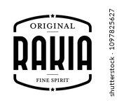 original rakia vintage stamp | Shutterstock .eps vector #1097825627