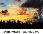 hot night in the forest and... | Shutterstock . vector #1097829599
