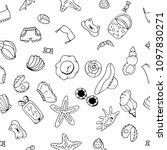 summer seamless pattern.... | Shutterstock .eps vector #1097830271