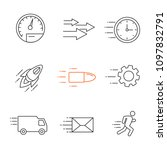 motion linear icons set. speed. ... | Shutterstock .eps vector #1097832791