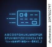flying credit card neon light... | Shutterstock .eps vector #1097832797