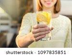 diet. healthy eating. woman...   Shutterstock . vector #1097835851