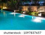 Pool Lighting In Backyard At...