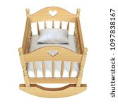 cradle isolated on white... | Shutterstock . vector #1097838167